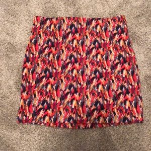 Multi colored mini skirt